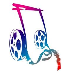movie reels vector image vector image