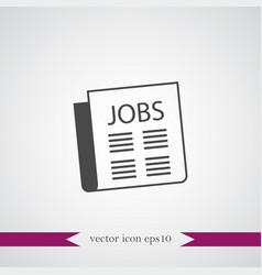 newspaper icon simple business sign vector image