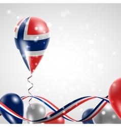 Norwegian flag on balloon vector