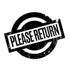 Please return rubber stamp vector