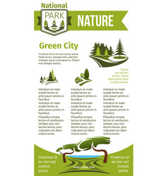 poster for eco park and green city vector image vector image