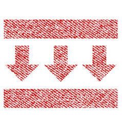 Pressure down fabric textured icon vector