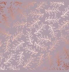 Rose gold elegant decorative floral pattern for vector