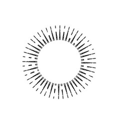 sunburst icon vintage vector image
