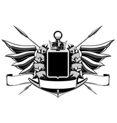 the black white coat of arms vector image