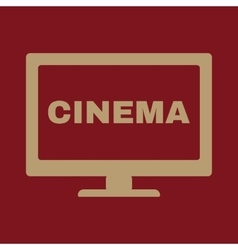 The cinema icon Television and tv movie film vector image