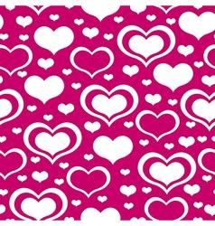 valentine heart pattern purple vector image vector image
