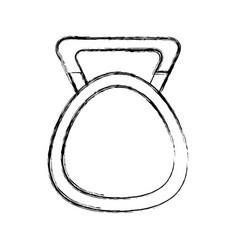 weight hand cartoon vector image