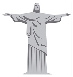 Statue of jesus christ vector