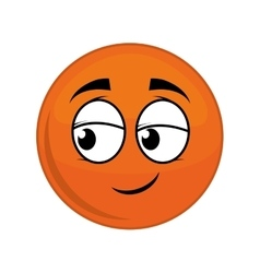 Sphere cartoon face expression icon vector
