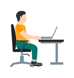 Working in office vector