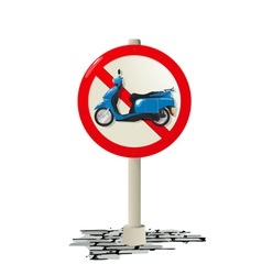 Scooter sign vector image