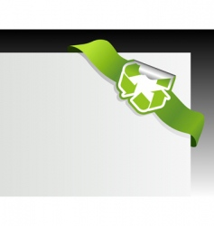Recycle symbol in the corner vector