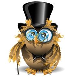 gentleman owl vector image