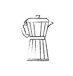 Coffee kettle stainless vector