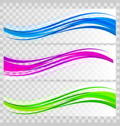 Abstract background set banners color vector
