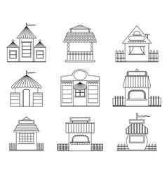 Fairy houses vector