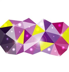 Triangle background for your business presentation vector image