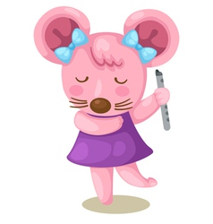 Mouse playing flute vector