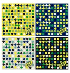 Brazil spots pattern background vector image
