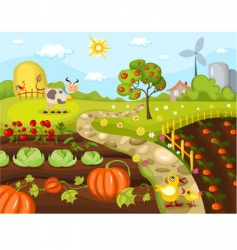 Harvest card vector