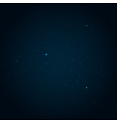 Night starry sky background vector