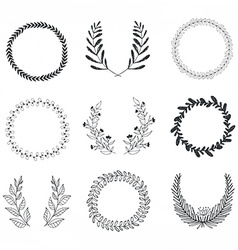 Laurels and Wreaths Collection vector image