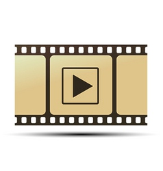 Reel with play icon vector