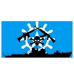 Somali pirates vector