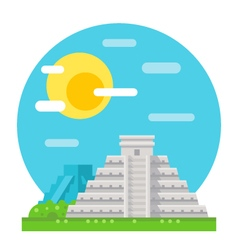 Chichen itza flat design landmark vector