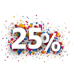 25 sale sign vector