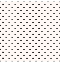 Scribble seamless dots pattern vector