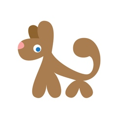 Funny stylized dog vector