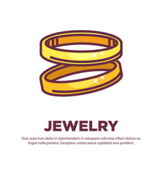 a pair of golden rings vector image vector image