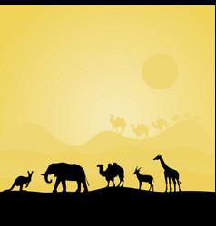 Animals of africa vector