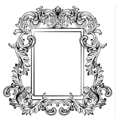 baroque frame mirror decor for invitation wedding vector image vector image