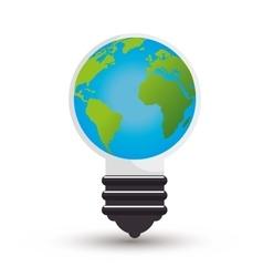 Bulb ecology idea isolated icon vector