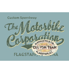 Custom motorbike corporation vector