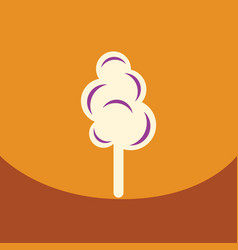 Flat icon design collection cotton candy vector