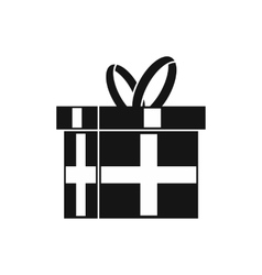 Gift in a box icon simple style vector image