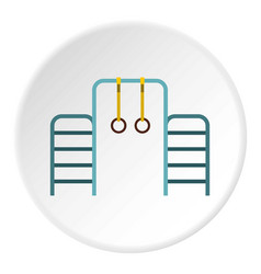 Gymnastics rings and ladder icon circle vector