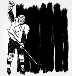 hockey player3 vector image vector image