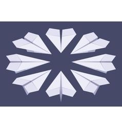 Isometric white paper planes vector image