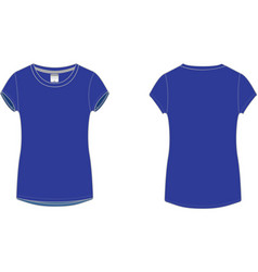 Ladies sport t-shirt vector