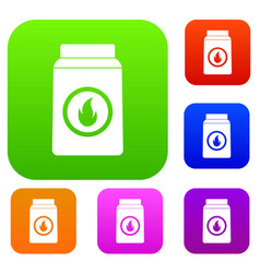 matchbox set color collection vector image