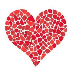 Mosaic heart icon vector image vector image