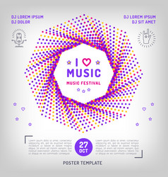 Music festival party invitation arts flyer vector