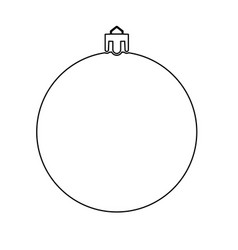 new years sphere christmas ball black color path vector image vector image