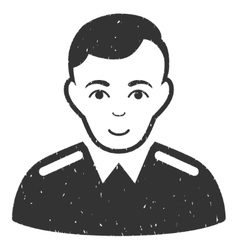 Officer grainy texture icon vector
