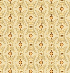 Pattern yellow retro vector